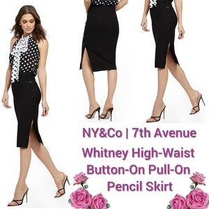 7th Ave - Whitney High-Waist Pull-On Pencil Shirt